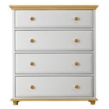 4 Drawer Dresser w/ Crown & Base - Two Tone