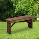 HERCULES Series 40'' x 12'' Antique Rustic Solid Pine Folding Farm Bench Product Image