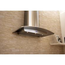"""36"""" Milano Curved Stainless Wall Hood"""