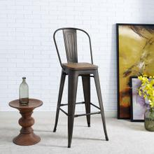 Promenade Metal Bar Stool in Brown