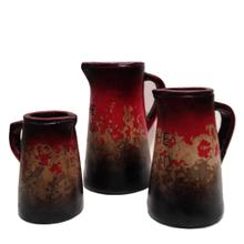 View Product - Textured Red gray Pitchers w/writing (Set of 3)
