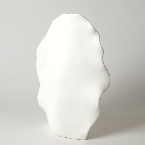 Kelp Vase-Matte White-Tall