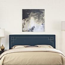 Josie King Upholstered Fabric Headboard in Azure