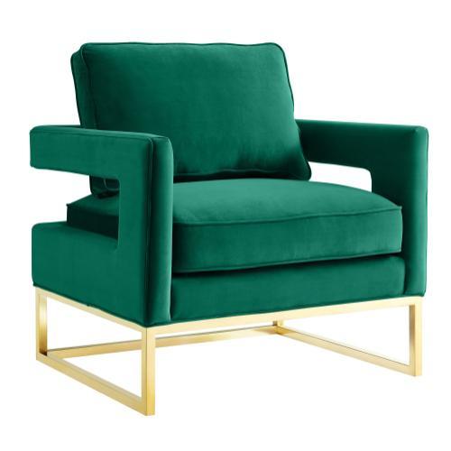 Tov Furniture - Avery Green Velvet Chair