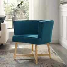 Anders Upholstered Fabric Accent Chair in Azure