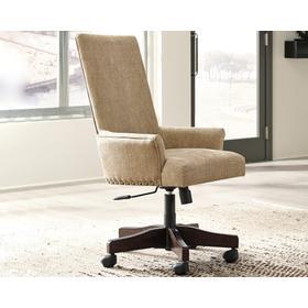 See Details - Baldridge Swivel Desk Chair Rustic Brown