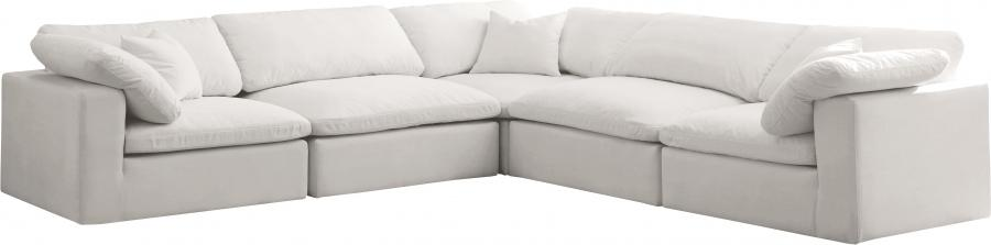 "Cozy Velvet Cloud Modular Down Filled Overstuffed Reversible Sectional - 119"" W x 120"" D x 32"" H"