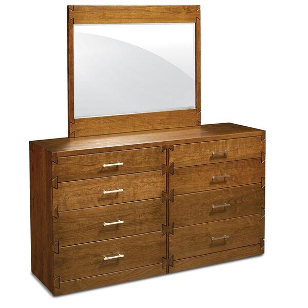"See Details - Dovetail 8-Drawer Dresser, 60""w x 18""d x 34 ""h"