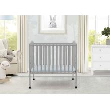 Portable Folding Crib with Mattress - Grey (026)