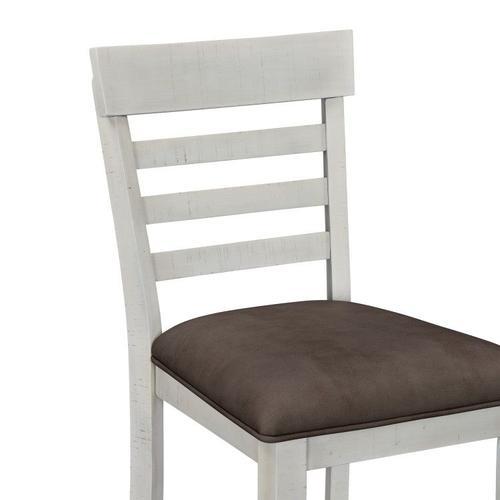 Gallery - Kirkland 2-Pack Counter Height Upholstered Barstools, White