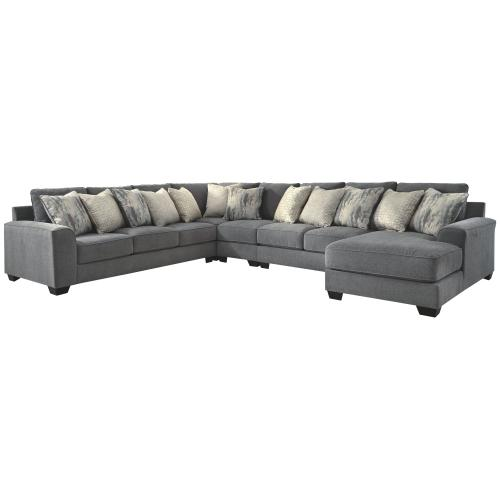 Ashley - Castano 5-piece Sectional With Chaise