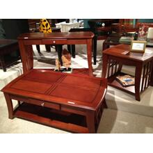 See Details - Light Oak Broadway Sofa Table