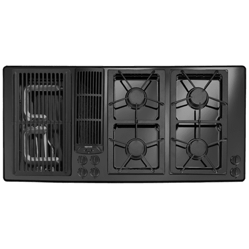 Jgd8345adb In Black Floating Glass Nh By Jennair In Middletown Nj Designer Line Modular Gas Downdraft Cooktop 45