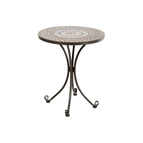 "Tremiti 24"" Rnd Bistro Ceramic Tbl Top & Iron Base"