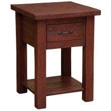 One Drawer Nightstand with shelf