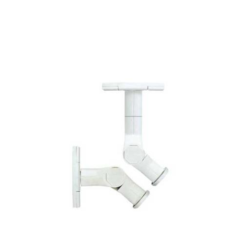 White Satellite Speaker Wall Mounts With Tilt & Swivel
