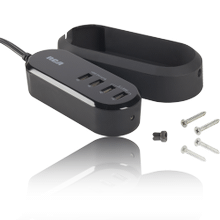 Tabletop USB charger with mounting bracket