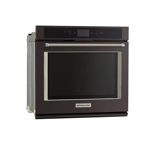 "Smart Oven+ 30"" Single Oven with Powered Attachments and PrintShield™ Finish - Black Stainless Steel with PrintShield™ Finish"