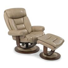 Flexsteel Hunter Leather Reclining Chair & Ottoman