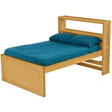 Captain's Bookcase Bed, Double, extra-long