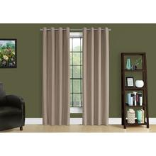 """See Details - CURTAIN PANEL - 2PCS / 52""""W X 84""""H BROWN SOLID BLACKOUT"""