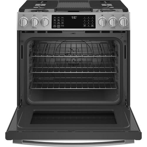 "GE Profile 30"" Dual Fuel Slide-In Range with Wifi Stainless Steel - PC2S930YPFS"