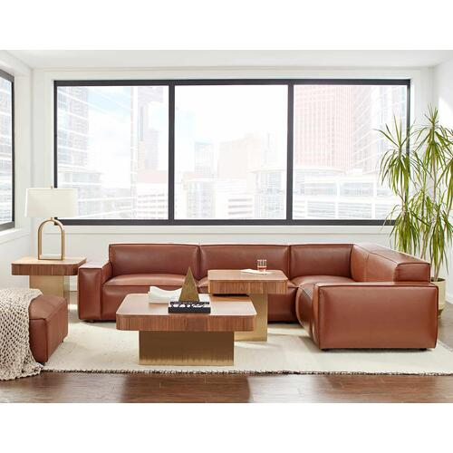 Olafur Upholstered 5-piece Modular Loveseat in Caramel by A.R.T. Furniture