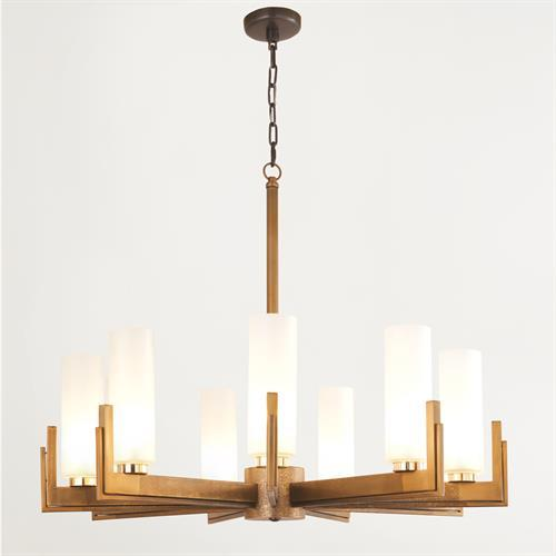 Stoic Chandelier-Ombre Brass