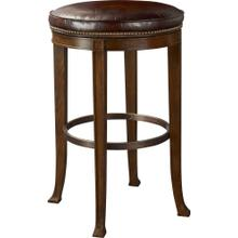 Newbury Swivel Backless Bar Stool