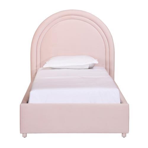 Gumdrop Blush Velvet Bed in Twin