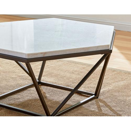 Gallery - Corvus 3-Piece Marble Top Set (Cocktail & 2 End Tables)