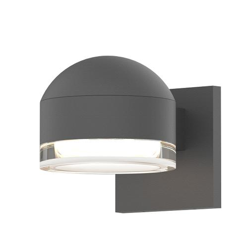 Sonneman - A Way of Light - REALS® Downlight LED Sconce [Color/Finish=Textured Gray, Lens Type=Dome Cap and Clear Cylinder Lens]