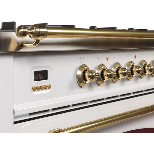 36 Inch White Liquid Propane Freestanding Range