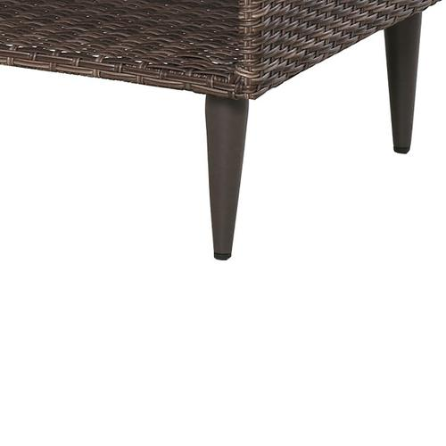 Cocktail Table in Weaved Brown