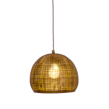 See Details - Gold Dome Pendant with Cutouts. 40W Max Watt. Hardwire Only.
