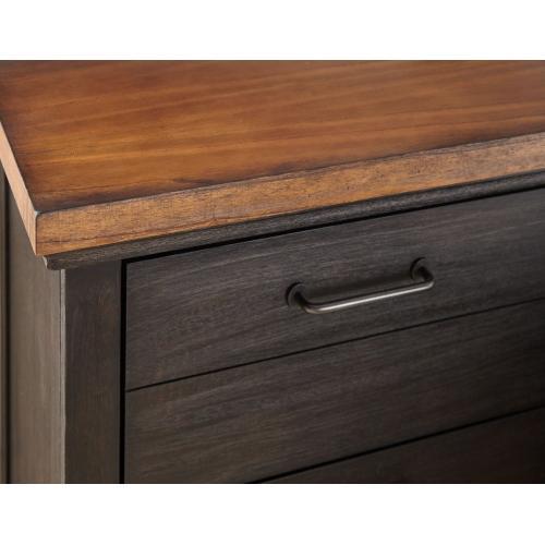 Bear Creek Brown 4-Piece King Set (Q Bed/NS/Dresser/Mir)