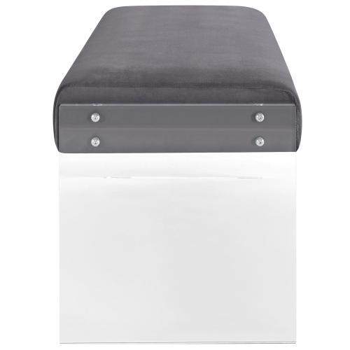 Roam Performance Velvet Bench in Gray