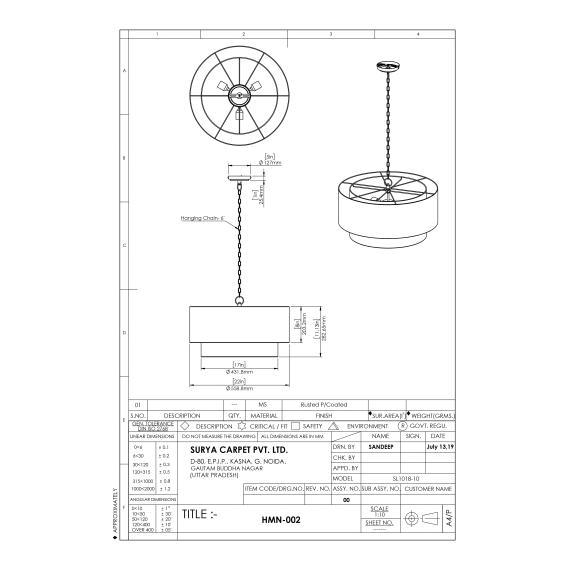 "Holloman HMN-002 11""H x 22""W x 22""D"