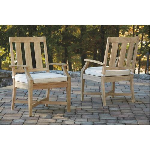 Clare View Arm Chair With Cushion (set of 2)