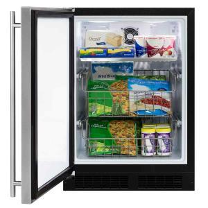 Marvel24-In Built-In All Freezer with Door Style - Stainless Steel, Door Swing - Left