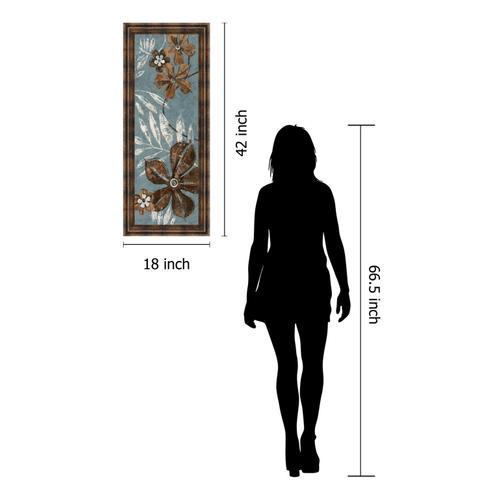 """Denim Garden I"" By Maria Donovan Framed Print Wall Art"
