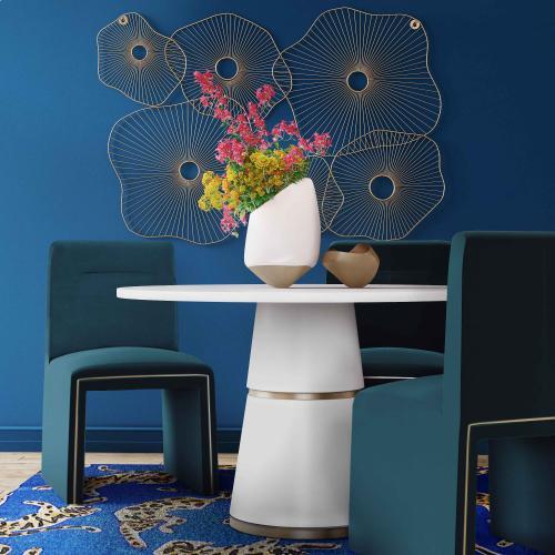 Jaffa Teal Performance Velvet Dining Chair