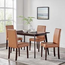Prosper 5 Piece Dining Set in Cappuccino Tan