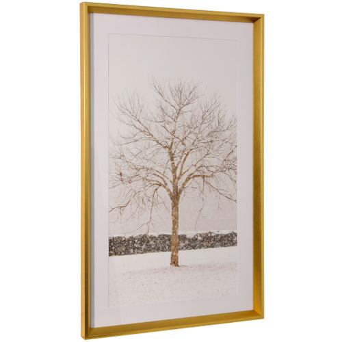 Style Craft - BY THE STONE WALL  36in ht X 22in w  Framed Print Under Glass