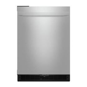 """NOIR™ 24"""" Under Counter Solid Door Refrigerator, Left Swing"""