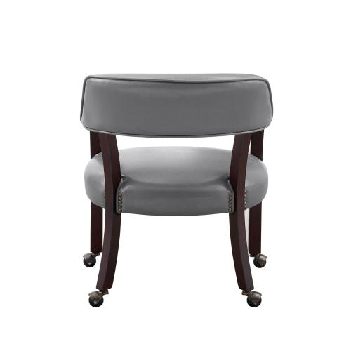 Tournament Arm Chair w/Casters, Gray