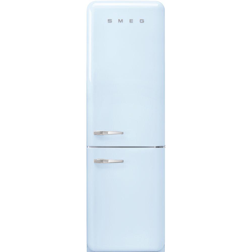 "Smeg'50s Style No Frost' Fridge-Freezer, Pastel Blue, Right Hand Hinge, 60 Cm (Approx 24"")"