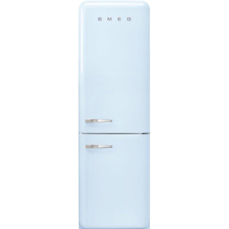"""'50s Style No Frost' Fridge-Freezer, Pastel Blue, Right Hand Hinge, 60 cm (Approx 24"""")"""