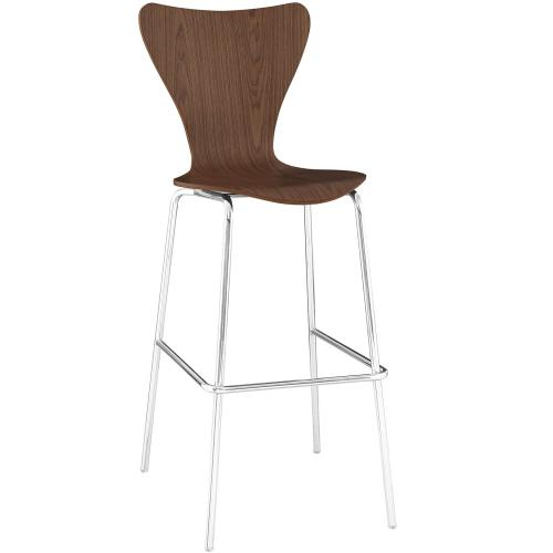 Ernie Wood Bar Stool in Walnut