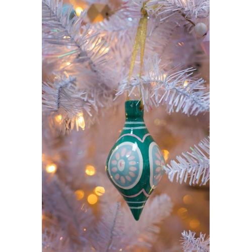 """2.5""""x 5.25"""" Green Sugarlane Ornament"""